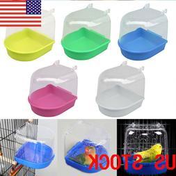 New Clean Parrot Bird Bathtub Box Bath Shower Standing Wash