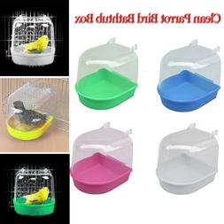 Clean Parrot Bird Bathtub Box Bird Bath Shower Standing Wash