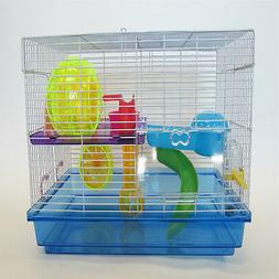YML Clear Plastic Dwarf Hamster Mice Cage with Color Accesso