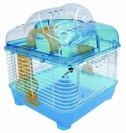 Clear Plastic Hamster/Mice Cage - Color: Blue