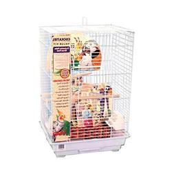 Penn Plax Cockatiel Square Top Bird Cage Kit