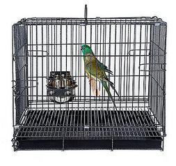 "Collapsible Travel Bird Cage 24"" L16.5""W 20.5""H 9204-570"