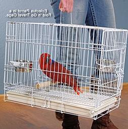 "Collapsible Travel Bird Cage 24"" L16.5""W 20.5""H White"