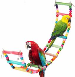 Colorful Cage Wooden Ladder Swing Rainbow Bridge Training Pl