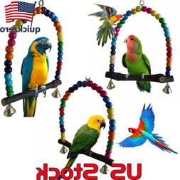 Colorful Parrot Bird Cage Toys Cockatiel Budgie Lovebird Woo