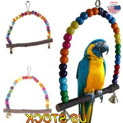 Colorful Parrot Swing Bird Cage Toys Bird Supplie Pet Swing