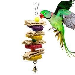 Colorful Parrot Toys Natural Wood Pet <font><b>Bird</b></fon