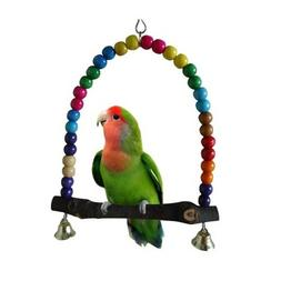 Colorful Swing Bird Toy Parrot Cage Toys Finch Lovebird Budg