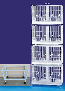 COMBO:4 Large Stack & Lock Double Canary Bird Breeding Cages