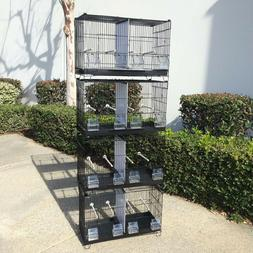 COMBO: 4 Stack & Lock Double Breeder Bird Breeding Cages Cen