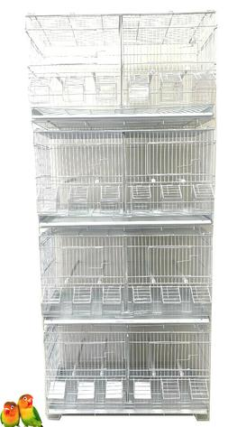 COMBO: 4 Stack & Lock Double Breeding Bird Flight Cages With