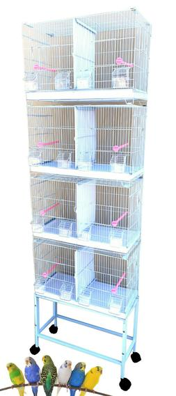COMBO: 4 Stack & Lock Double Breeding Bird Flight Cages Cent