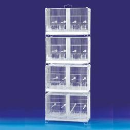 COMBO: 4 Stack & Lock Double Breeding Aviary Bird Cages Cent