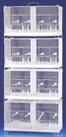 COMBO: 4 Stackable Breeding Bird Cages For Aviaries Canary W