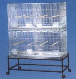 COMBO: LARGE Stack and Lock Double Breeder Cage Bird Breedin
