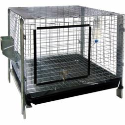 Advantek Small Animal Complete Rabbit Hutch Kit, 24 by 24-In