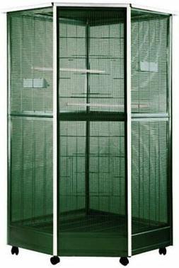 Corner Aviary Bird Cage Size: Small
