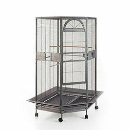 Flyline Corner Bird Cage for Cockatiel Parakeet Budgies Parr