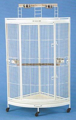 """NEW Corner Open Playtop Parrot Bird Cage - 36"""" X 25"""" X 6"""