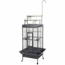 Costway Bird Cage Play Top Strong Iron Ladder Parrot Cockato