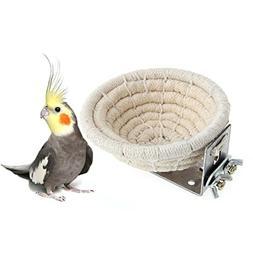 Handmade Cotton Rope Bird Breeding Nest Bed for Budgie Parak