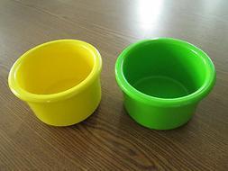 "Crock style bird or pet water/food plastic dish 16"" oz.bowl"
