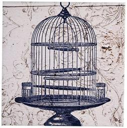 3dRose ct_110263_2 Vintage Round Bird Cage Steampunk Art-Cer