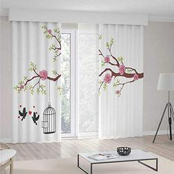iPrint Curtains for Living Room,Flying Birds Decor,Home Deco