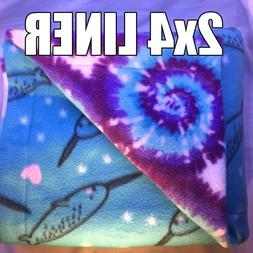 Custom 2x4 C&C Guinea Pig Hedgehog Cage Liner- 16 fabric opt