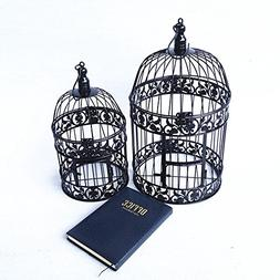 "PET SHOW 7"" Cute Small Mini Round Birdcages Metal Wall Hangi"