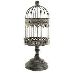 Decorative Antique Vintage Style Ornate Iron Bird Cage on St