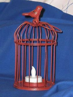Decorative Bird Cage, LED Tealight Candle Holder, Made Of Me