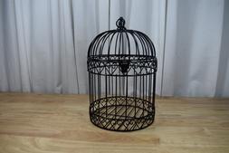 Decorative Bird Cage Centerpiece Black Wedding Card Holder P