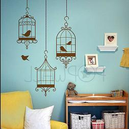 Decorative Bird Cages wall decal - birds escaping from cage