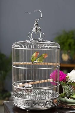 Decorative Birdcage Hanging Bird Perch Enclosure Wire Pet De