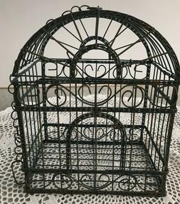 Decorative~Verdis Green~Metal Wire Bird Cage~Hinged Lid & Ha
