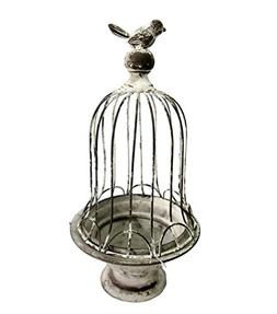 decorative victorian gray bird cage