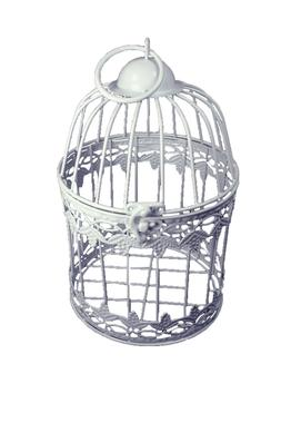Decorative White Metal Bird Cage GRAPE LEAF Design Wedding o