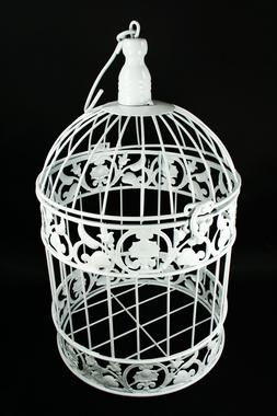 Decorative White Metal Bird Cage Wedding or Home Table Decor