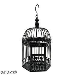 """DELUXE 14"""" BLACK METAL BIRDCAGE HOME DECORATION ~ CARDHOLDER"""