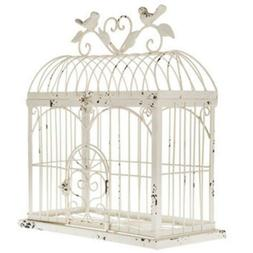 "BEAUTIFUL 14.5"" DISTRESSED METAL BIRDCAGE HOME DECOR ~ ANTIQ"