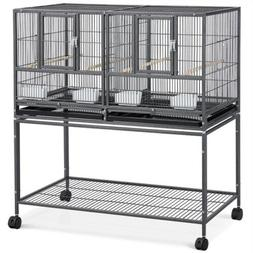 Stackable Divided Breeder Breeding Parakeet Bird Cage for Ca