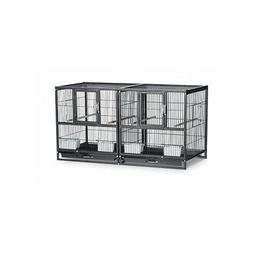 Divided Breeder Cage Bird Canary Parakeet Finch Aviary Perch