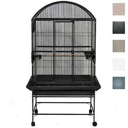 Large Dome Top Bird Cage Black