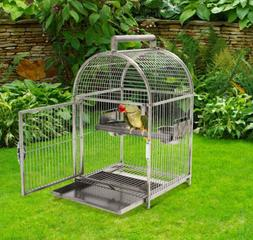 Dome Top Bird Cage Stainless Steel Portable Travel Cockatiel