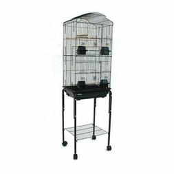 Dome Top High Bird Cage with Stand for Canary Parakeet Cocka