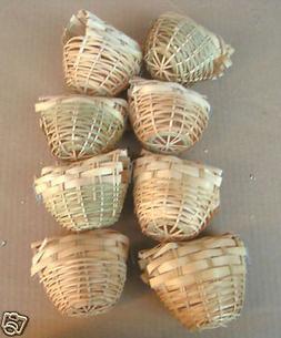 NEW Bird Finch Bamboo Nests #8221 - Lot of 8 pcs-562