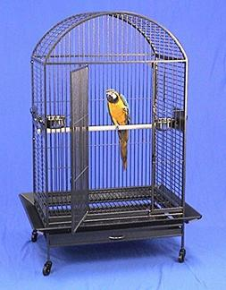 "XX Large DomeTop Wrought Iron Bird Parrot Cage, 40""x30""x66.5"