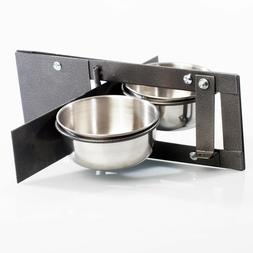 Adventure Bound Double 4 Inch Bowl Parrot Swing Feeder for C
