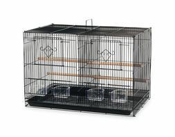 Double Birdcage Divided Cage Bird Parakeet Finch Cockatoo En